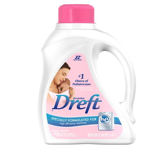 Dreft 2x Ultra Baby Laundry Detergent for High Efficiency Machines Liquid 32 Loads, 50-Ounce
