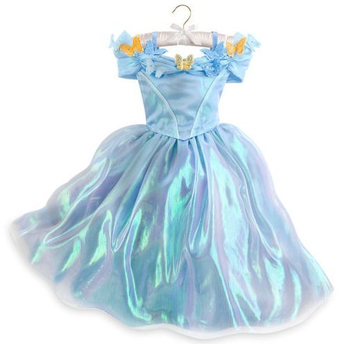 DISNEY STORE PRINCESS DELUXE CINDERELLA DRESS GOWN COSTUME GIRLS - LIVE ACTION (4) (Cinderella Movie Deluxe Child Costume)