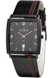 Skagen Men's 680LBLBR Steel Black Dial and Strap Watch