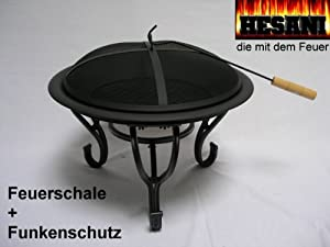 feuerschale funkenschutz lagerfeuer grill dreibein. Black Bedroom Furniture Sets. Home Design Ideas