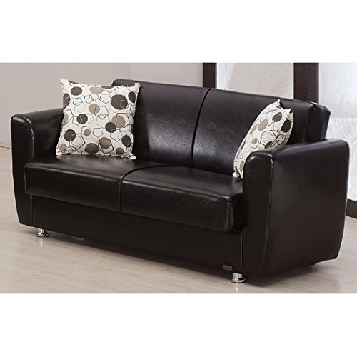 Queens Convertible Loveseat by Beyan, Brown