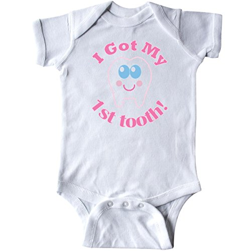 Inktastic Baby Girls' I Got My 1st Tooth Infant Creeper 6 Months White