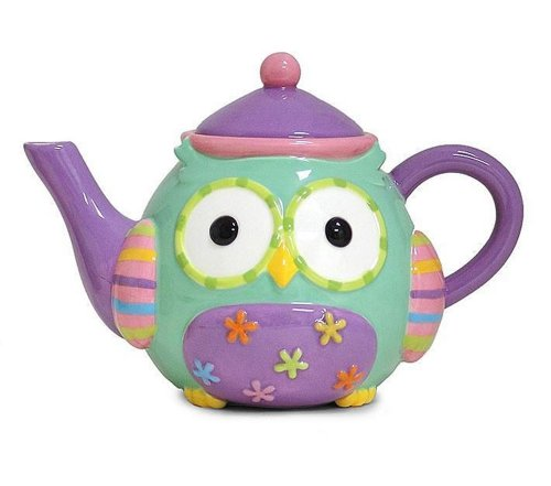 Whimsical Owl 32 Oz Teapot Adorable Kitchen and Dining Serveware (Teapot 32 Oz compare prices)