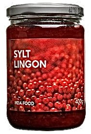 Sylt Lingon, Lingonberry Preserves, Ikea Food, 14 Ounces, (Pack of 4)