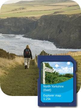 Satmap MapCard: North Yorkshire (East) OS 1:10k  &  1:25k