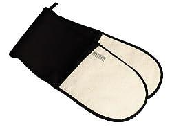 Le Creuset Hi-Tech Kitchen Textile Double Oven Glove, Black