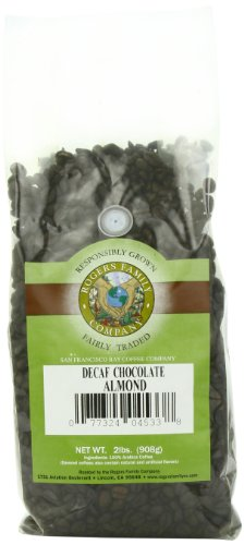 Rogers Family Company Whole Bean Coffee, Decaf Chocolate Almond, 32 Ounce