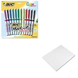 KITBICGPMUP12ASSTPAC104159 - Value Kit - BIC Mark-it Permanent Markers (BICGPMUP12ASST) and Pacon Four-Ply Poster Board (PAC104159)