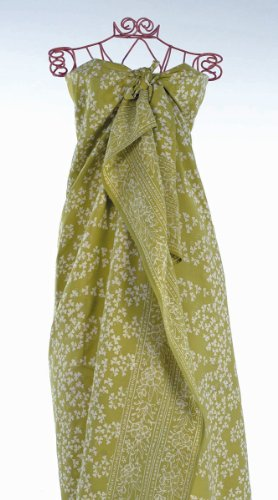 Apple green Cloverleaf Batik Sarong