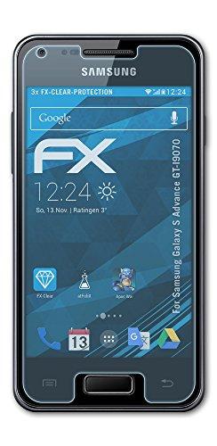 atFoliX FX-Clear Pellicola protettiva per Samsung Galaxy S Advance GT-I9070 (3 pezzi) - Pellicola protettiva trasparente!
