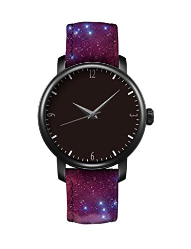 icreat-ladies-leather-strap-quartz-watch-black-dial-black-case-watchband-design-with-space-nebula-co