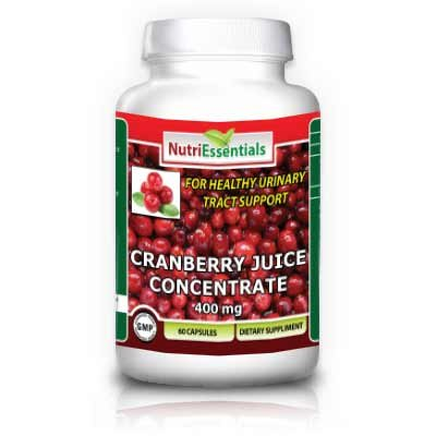 Nutri Essentials Cranberry Juice Concentrate Capsules, 400 Mg, 60 Count