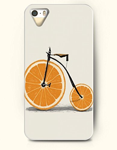 Oofit Phone Case Design With Bike With Orange-Shanped Tire For Apple Iphone 5 5S 5G