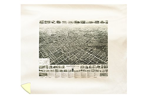 westfield-new-jersey-panoramic-map-88x104-king-microfiber-duvet-cover