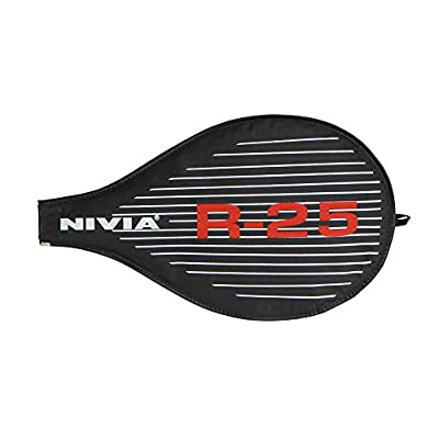 NIVIA R-25 Tennis Racquet, 25-Inch (Red/Black)