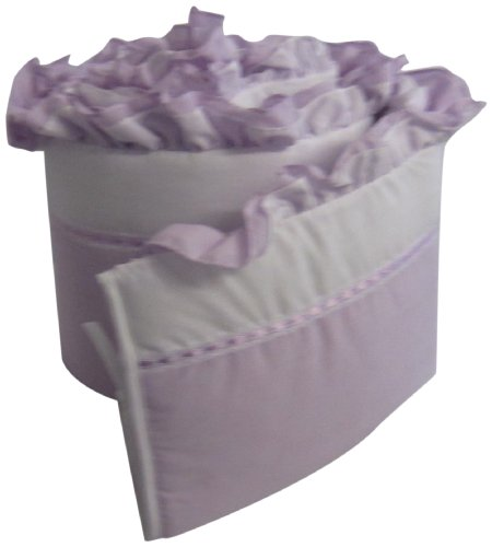 Baby Doll Bedding Regal Crib Bumper, Lavender