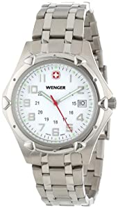 Wenger Men's 73119 Standard Issue XL White Dial Steel Bracelet Watch
