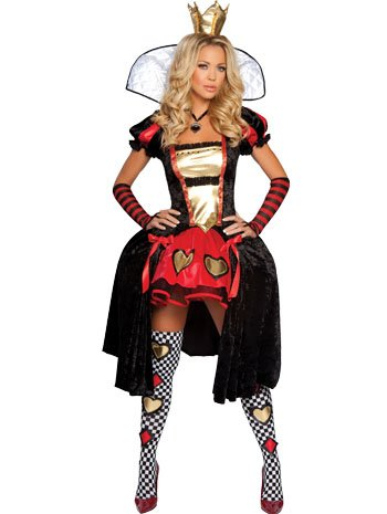 Sexy Wicked Wonderland Queen Of Hearts Costume - SMALL/MEDIUM