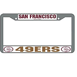 NFL San Francisco 49ers Chrome Licensed Plate Frame