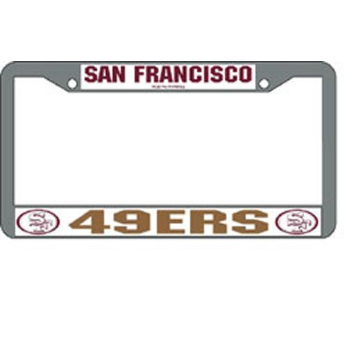 NFL San Francisco 49ers Chrome Licensed Plate Frame at Amazon.com