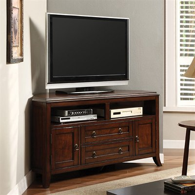 Sterling Console Television Stand in Dark Cherry Finish by Furniture of America # CM5305-TV