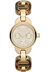 Michael Kors MK4275 Women's Gold Watch with Tortoise Shell Accent