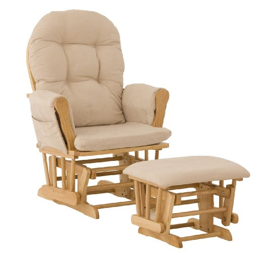 Stork Craft Glider Ottoman Natural