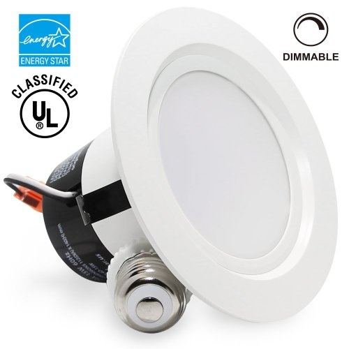 Torchstar 15Watt 4-Inch Energy Star Ul-Listed Dimmable Retrofit Led Recessed Lighting Fixture - 2700K Warm White Led Ceiling Light - 850Lm 85W Equivalent Remodeled Recessed Downlight