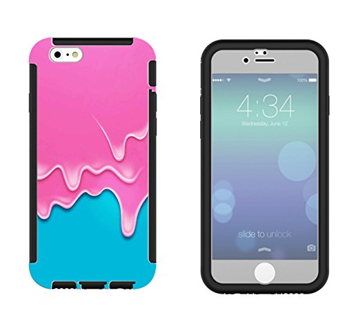 1199 - Melting Ice Cream Design iphone 5C Full Body CASE With Build in Screen Protector Rubber Defender Shockproof Heavy Duty Builders Protective Cover (5c Melting Ice Cream Case compare prices)