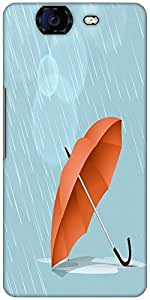 Snoogg Abstract Rainy Season Background With Waterdrops And Clouds Designer P...