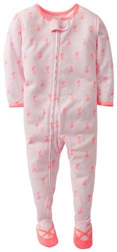 Carters Girls Baby Ballet Zip Up Sleep & Play 12 Mo Pink