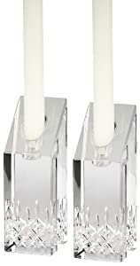 """Waterford Candle Holders, Set of 2 Lismore Essence Candlesticks 8"""""""