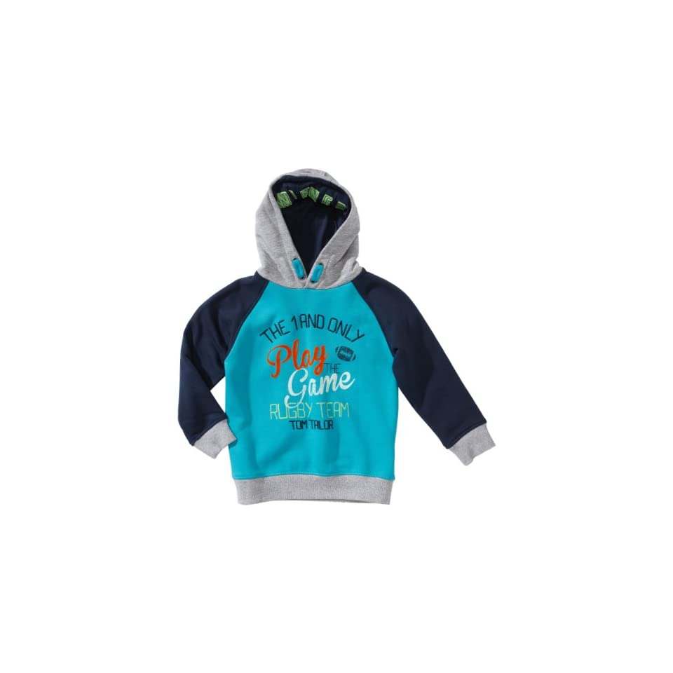 TOM TAILOR Kids Jungen Sweatshirt 25154850082/hoody play the game, Gr. 92/98, Blau (6591 wave blue) Bekleidung