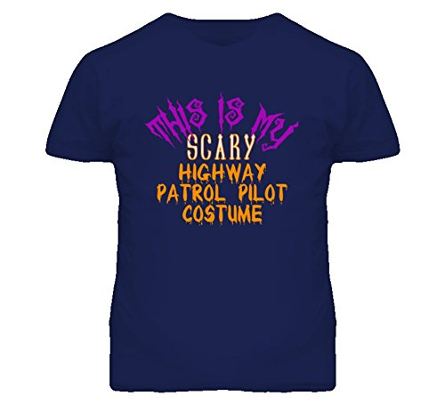 [This Is My Scary Highway Patrol Pilot Costume Funny Halloween T Shirt 2XL Navy] (Highway Patrol Costume)