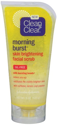 Clean & Clear Morning Burst Skin Brightening Scrub, 5-Ounce (Pack of 3)