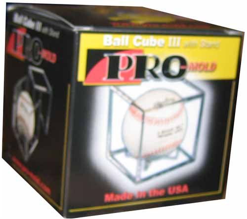 Square Ball Holder Display Case Baseball New Cube - 1