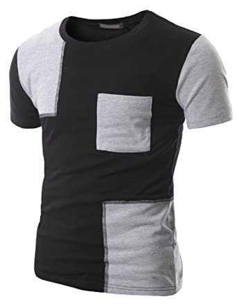 Doublju Patch Point Pocket Short T-shirt W14T-Black (US M)