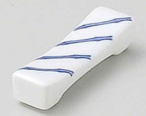 Bamboo 6.7cm Ensemble de 5 Chopstick Rests White porcelain Originale Japonaise