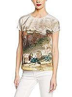 Dolce & Gabbana Blusa Seda (Beige / Multicolor)