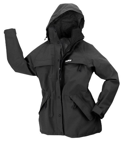 Women's Taiga Chamonix 'All-Season' Waterproof-Breathable Jacket, Made in Canada (Size: 4, Black)
