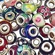 20pc lot Argent Lampwork Murano Glass Beads Mix europ�ennes - Compatible avec Pandora, Chamilia, Biagi, Trolls par Boolavard