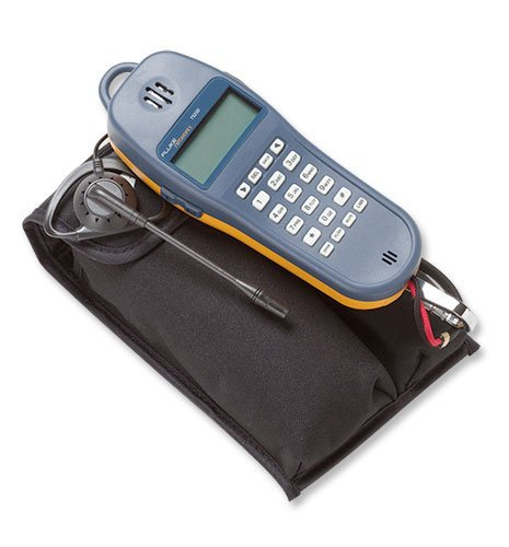 Fluke Networks 25501109 TS25D Telephone Test Set with Angled Bed-of-Nails Clips, Earpiece, 6-Wire In-line Modular Adapter, and Pouch