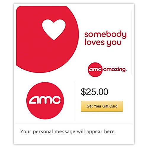 AMC Theatres Somebody Loves You Gift Cards - E-mail Delivery (Amc Theaters compare prices)