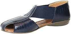 Craze Shop Womens Blue Artificial Leather Flats - 8 UK