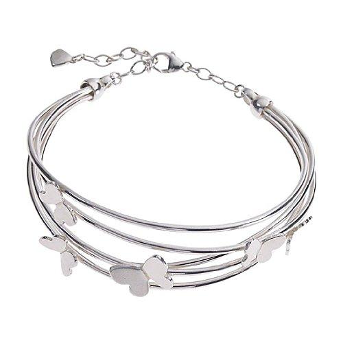 Sterling Silver Designer Butterfly Bangle / Bracelet