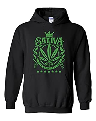 Artix Cannabis Sativa Weed Leaf Unisex Hoodie Sweatshirt