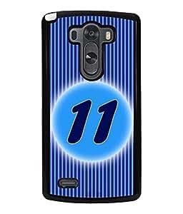 Fuson 2D Printed Numerology Designer back case cover for LG G3 - D4229