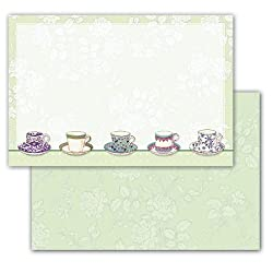 Come to Tea - Set of 10 Correspondence Greeting Cards and Envelopes