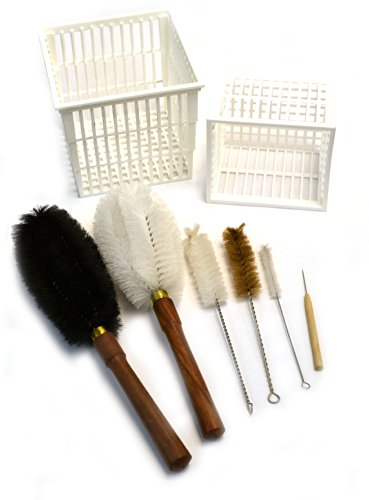 Eisco Labs 8 Piece Parts Washer Cleaning Kit - Baskets And Brushes front-156189