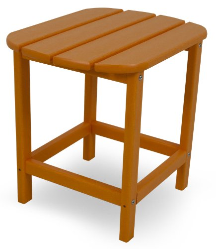 "POLYWOOD SBT18TA South Beach 18"" Side Table, Tangerine"